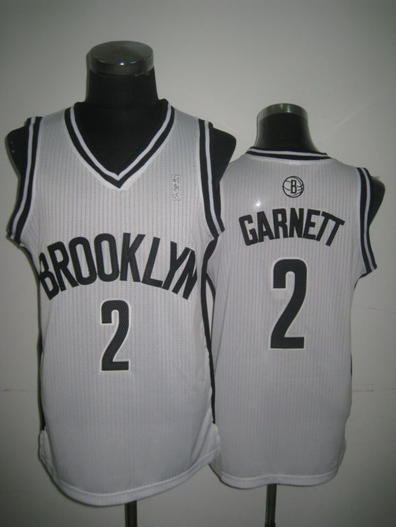 NBA Brooklyn Nets 2 Kevin Garnett 2013 new material white jersey