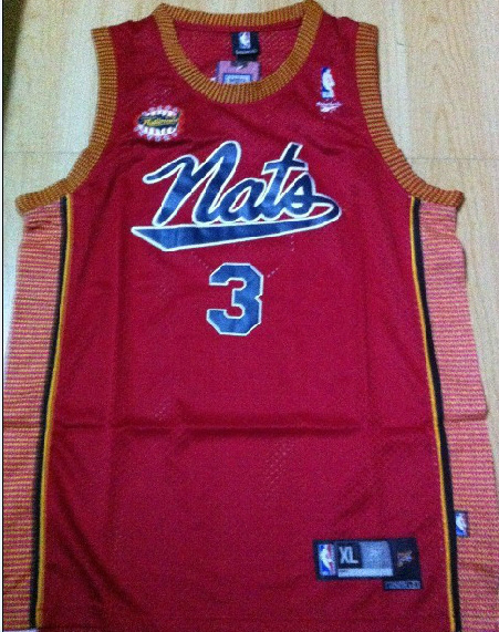 NBA Philadelphia 76ers 3 Allen Iverson Saracuse Nationals red jersey