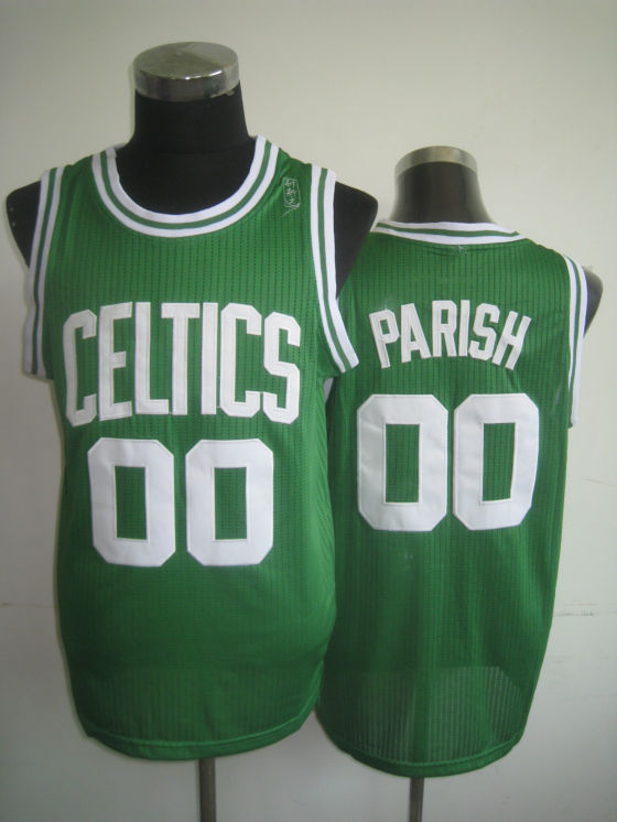NBA Boston Celtics 00 Robert Parish green jersey