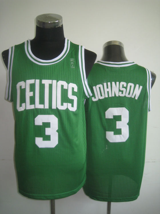 NBA Boston Celtics 3 Dennis Johnson retro swingman green jersey