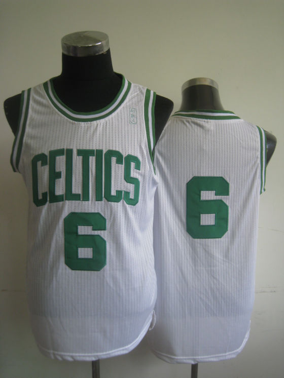 NBA Boston Celtics 6 Bill Russell retro swingman white jersey