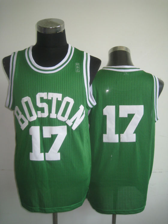 NBA Boston Celtics 17 John Havlicek retro swingman green jersey