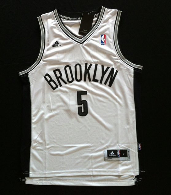 NBA Brooklyn Nets 5 Kevin Garnett rev 30 white color jersey