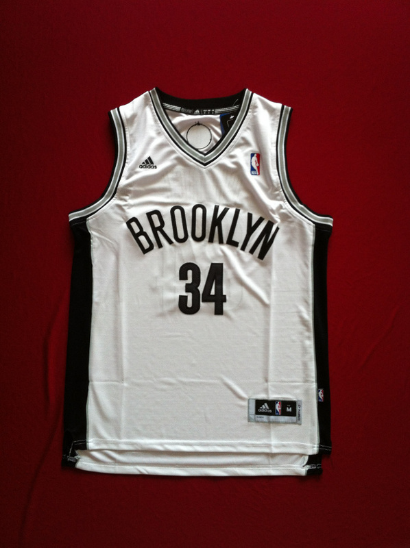 NBA Brooklyn Nets 34 Paul Pierce revolution 30 swingman white color jersey