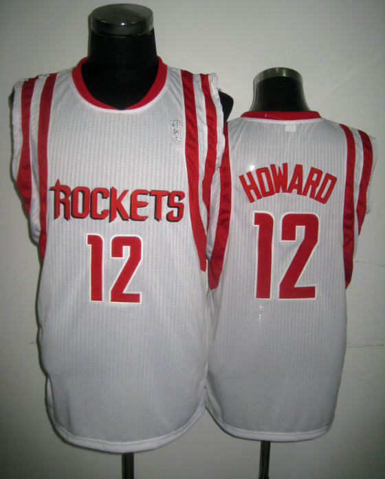 NBA Houston Rockets 12 Dwight Howard 2013 new team white jersey