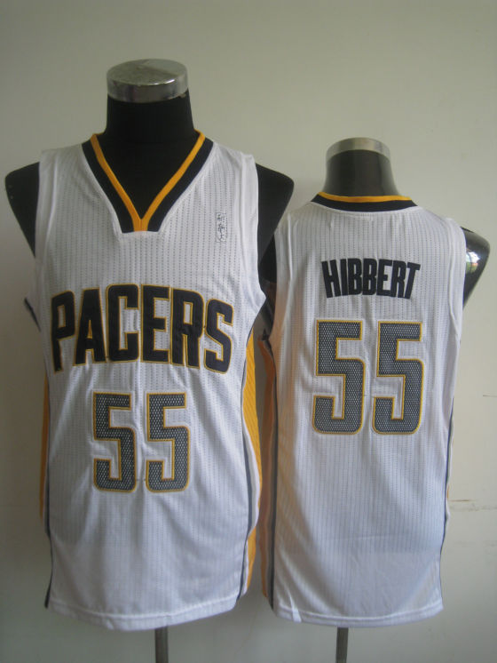 NBA Indiana Pacers 55 Roy Hibbert white jersey