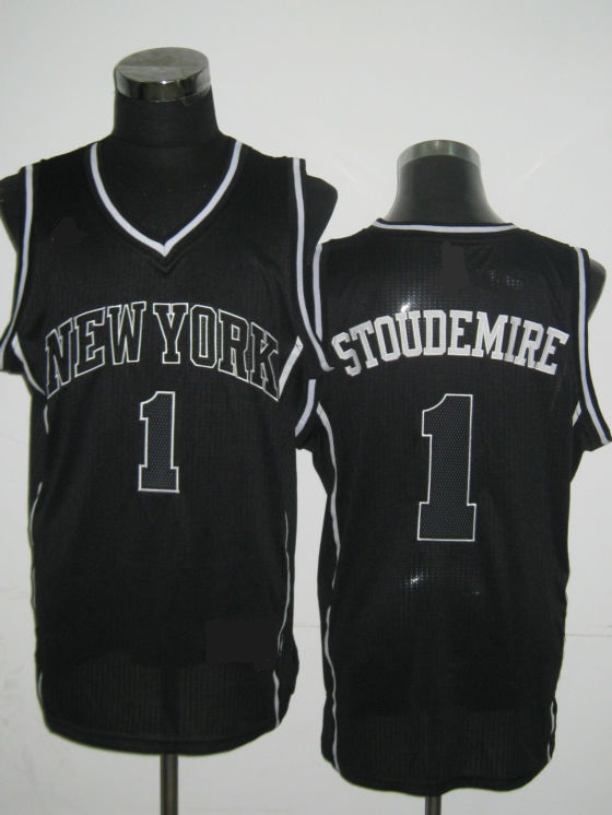 NBA New York Knicks 1 Amare Stoudemire black lights out jersey