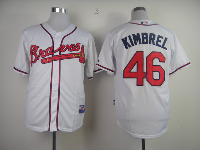 MLB Atlanta Braves 46 Craig Kimbrel White Jersey