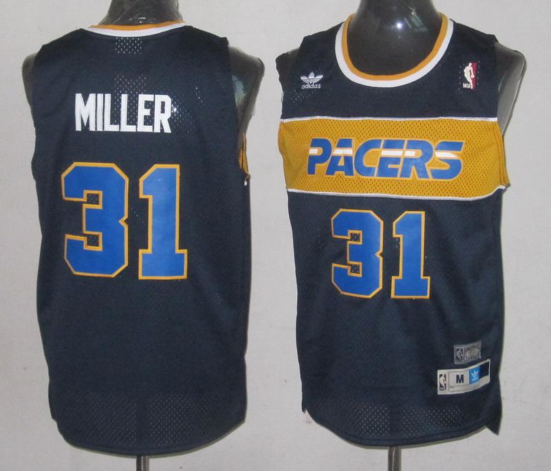 NBA Indiana Pacers 31 Reggie Miller dark Blue Jersey