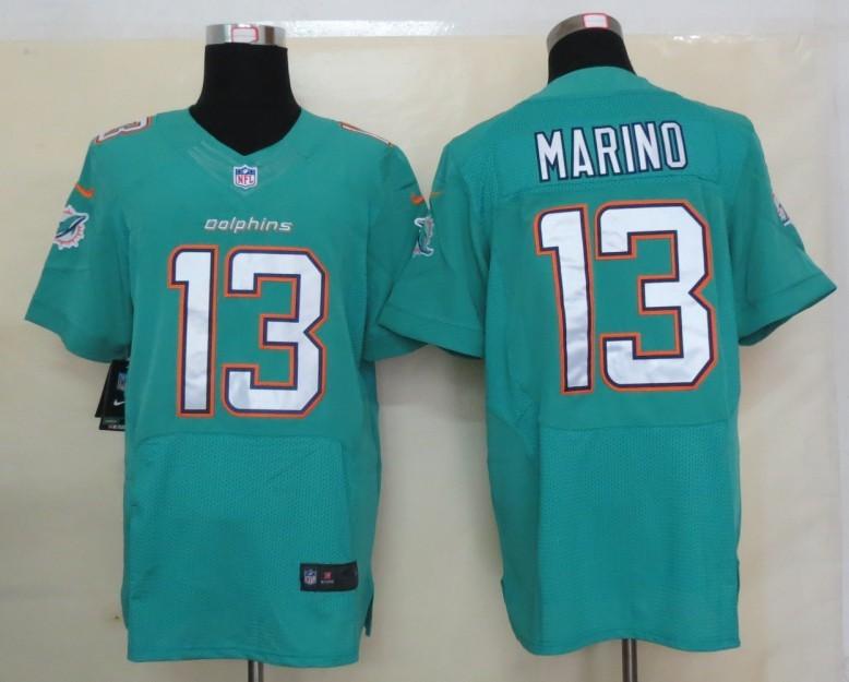 Miami Dolphins 13 Marino Green Nike 2013 Elite Jerseys