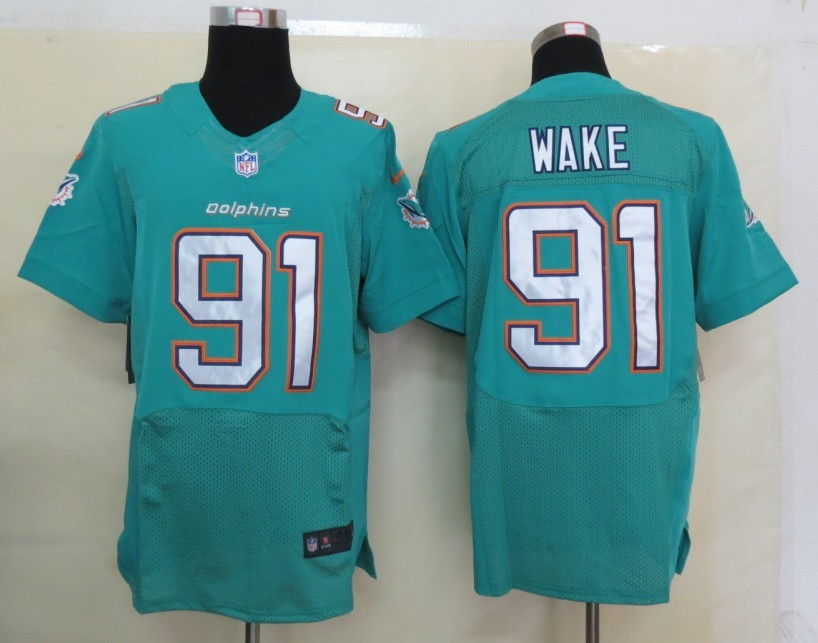 Miami Dolphins 91 Wake Green Nike 2013 Elite Jerseys