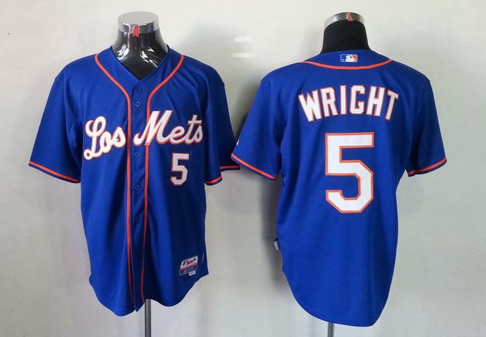 MLB New York Mets 5 David Wright Blue Jersey