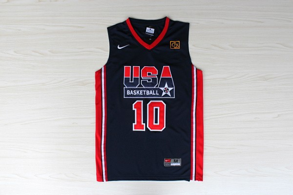 NBA 10 Drexler 1992 Dream Team USA navy blue jersey