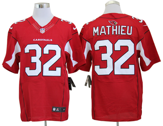 Arizona Cardinals 32 Tyrann Mathieu Red Nike Elite Jerseys