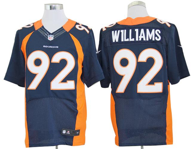 Denver Broncos 92 Sylvester Williams blue Nike Elite Jerseys