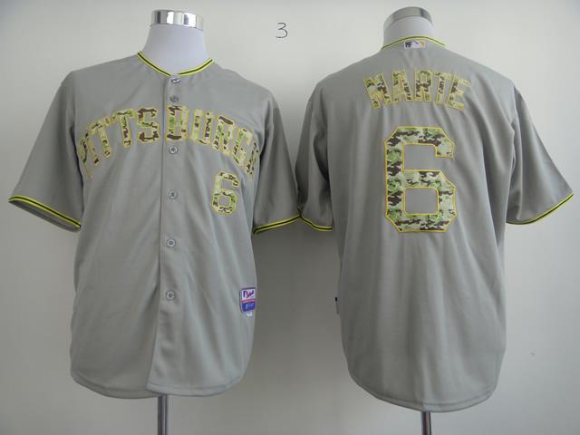 MLB Pittsburgh Pirates 6 Marte Grey Camo Jersey