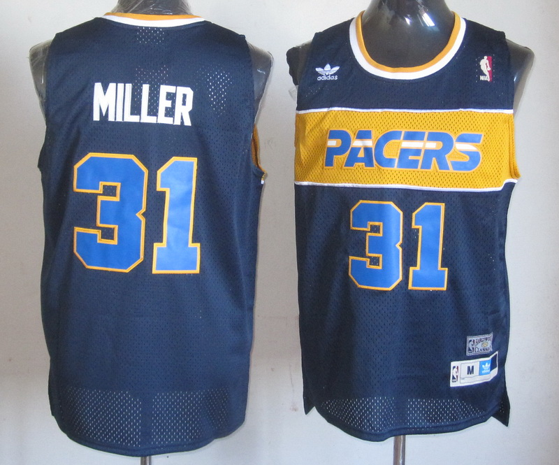 NBA Indiana Pacers 31 Reggie Miller blue Jersey