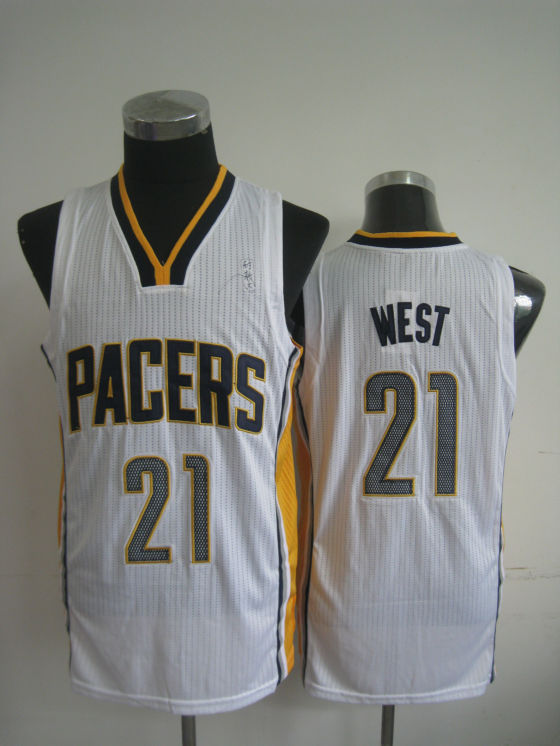 NBA Indlana Pacers 21 West White Jersey