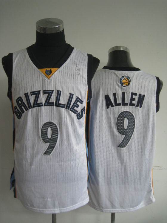 NBA Memphis Grizzlies 9 Tony Allen new material navy white jersey
