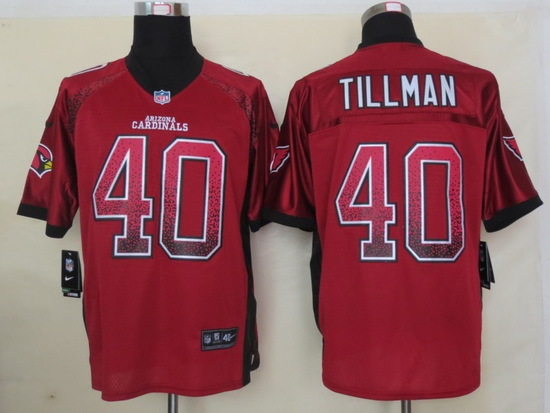 2013 NEW Nike Arizona Cardicals 40 Tillman Drift Fashion Red Elite Jerseys