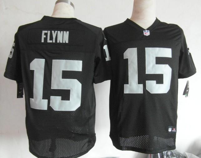 Oakland Raiders 15 Flynn Black 2013 Nike Elite Jerseys