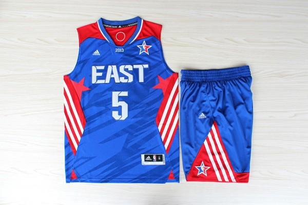 NBA Boston Celtics 5 Kevin Garnett All-Star Blue Jerseys with shorts
