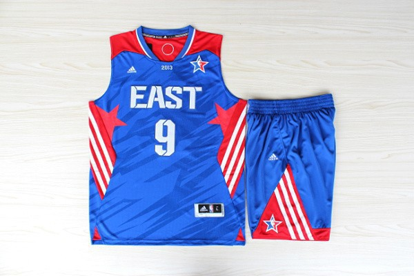 NBA Boston Celtics 9 Rajon Rondo All-Star Blue Jerseys with shorts