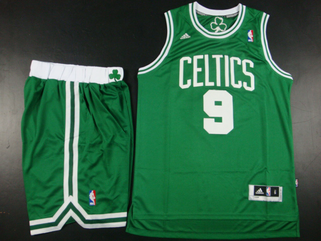 NBA Boston Celtics 9 Rajon Rondo Green Jerseys with Shorts