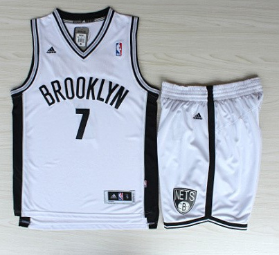 NBA Brooklyn Nets 7 Joe Johnson Revolution 30 white jersey with shorts