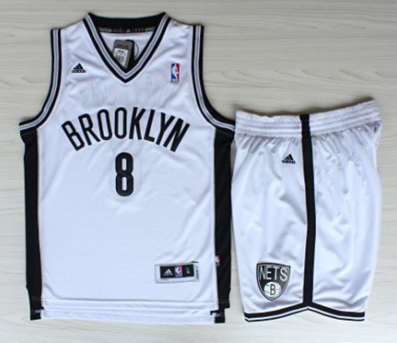 NBA Brooklyn Nets 8 Deron Williams Revolution 30 White Jerseys With Shorts