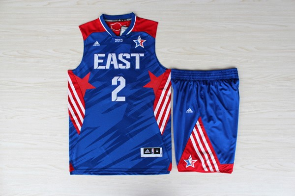 NBA Cleveland Cavaliers 2 Kyrie Irving All-Star Blue Jerseys with shorts