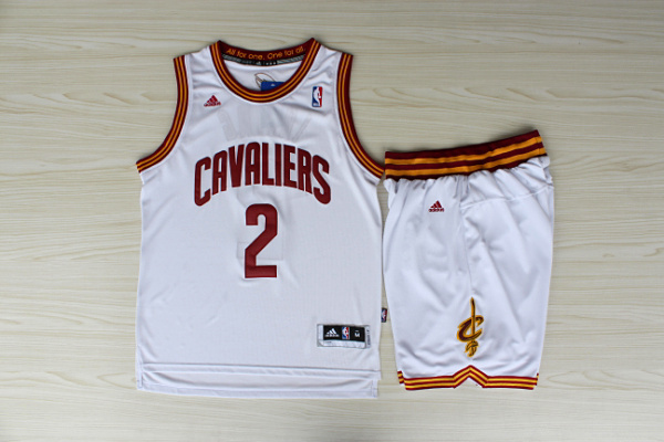 NBA Cleveland Cavaliers 2 Kyrie Irving White Jerseys with Shorts
