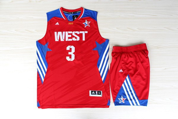 NBA Los Angeles Clippers 3 Chris Paul All-Star Red Jerseys with shorts