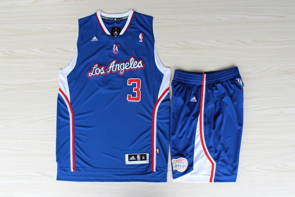 NBA Los Angeles Clippers 3 Chris Paul Blue Swingman With Shorts