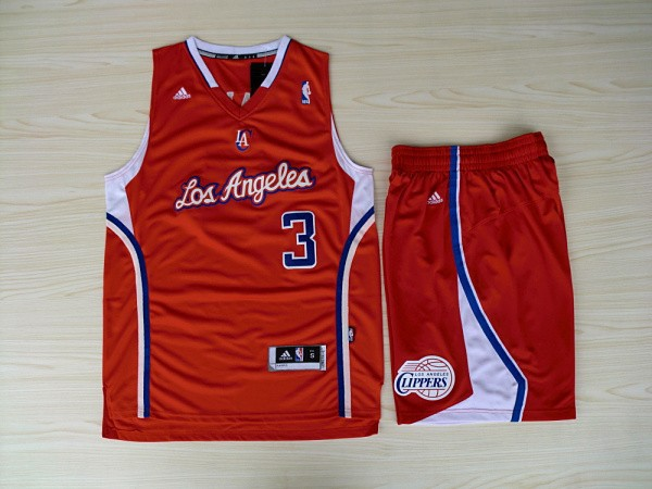 NBA Los Angeles Clippers 3 Chris Paul Red Swingman With Shorts