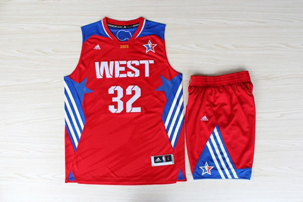 NBA Los Angeles Clippers 32 Blake Griffin All-Star Red Jerseys with shorts