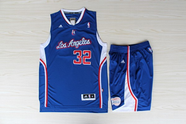 NBA Los Angeles Clippers 32 Blake Grififn Blue Swingman With Shorts