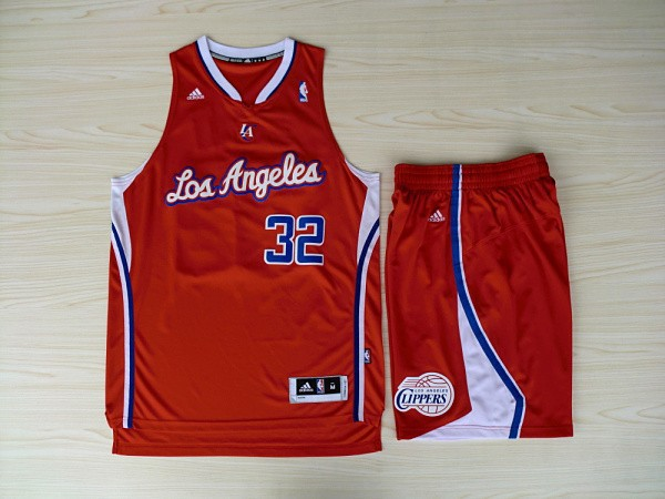 NBA Los Angeles Clippers 32 Blake Grififn Red Swingman With Shorts