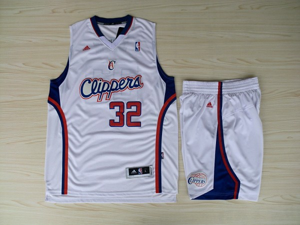 NBA Los Angeles Clippers 32 Blake Grififn White Swingman With Shorts