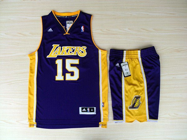NBA Los Angeles Lakers 15 Ron Artest Purple Jerseys with Shorts