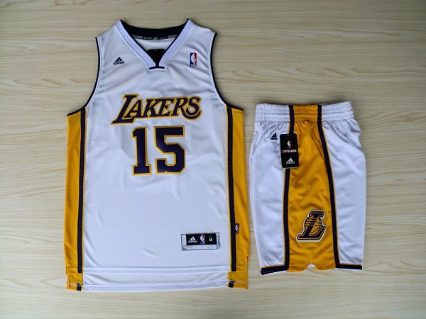 NBA Los Angeles Lakers 15 Ron Artest White Jerseys with Shorts