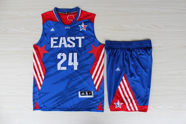 NBA Los Angeles Lakers 24 Kobe Bryant All-Star Blue Jerseys with shorts