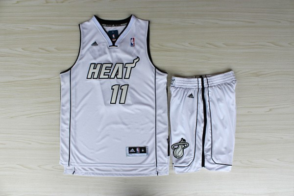 NBA Miami Heat 11 Chris Andersen White Jerseys with shorts