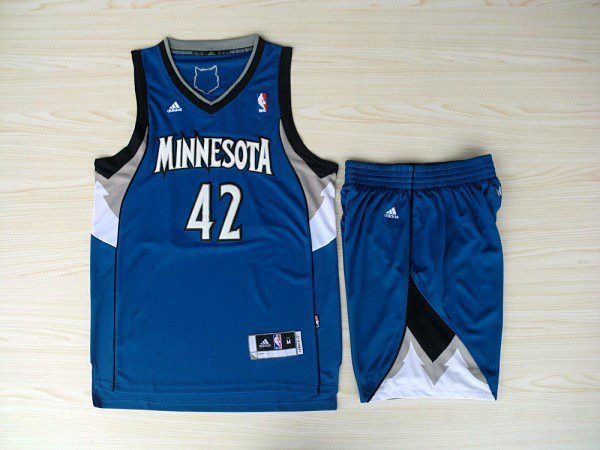 NBA Minnesota Timberwolves 42 Kevin Love Blue Jerseys with shorts