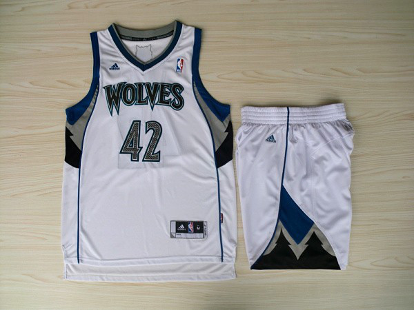 NBA Minnesota Timberwolves 42 Kevin Love White Jerseys with shorts