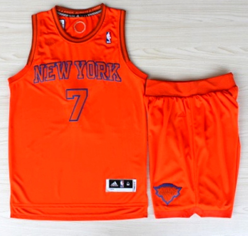 NBA New York Knicks 7 Carmelo Anthony Christmas Day orange jersey with Shorts