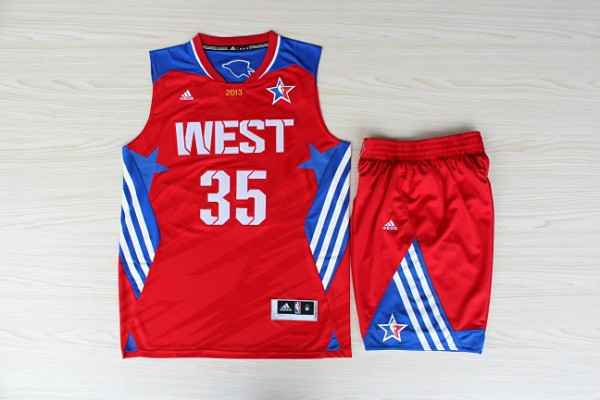 NBA Oklahoma City Thunder 35 Kevin Durant All-Star Red Jerseys with shorts