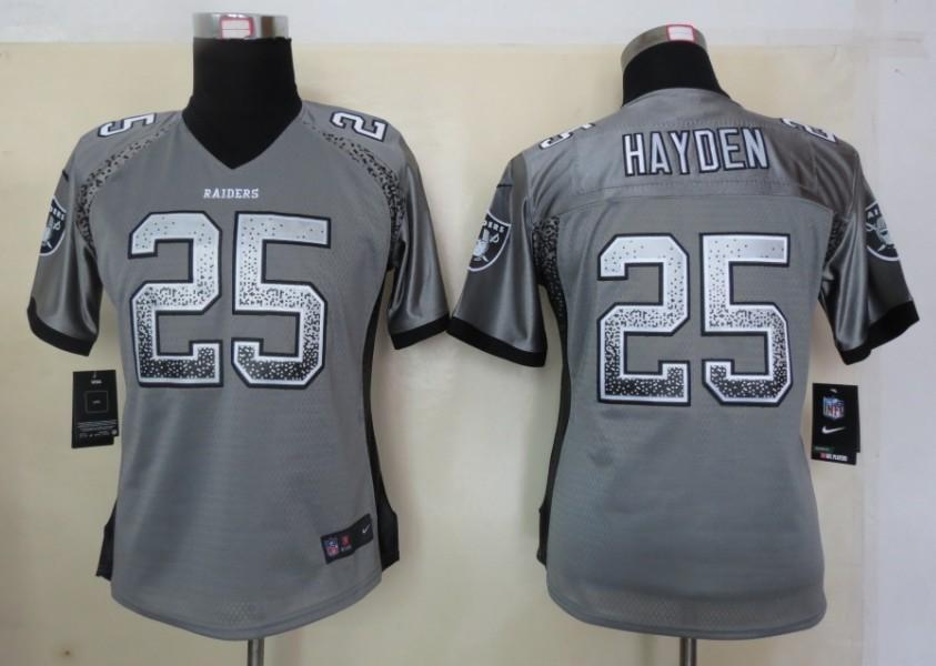 Women 2013 New Nike Oakland Raiders 25 Hayden Drift Fashion Grey Elite Jerseys