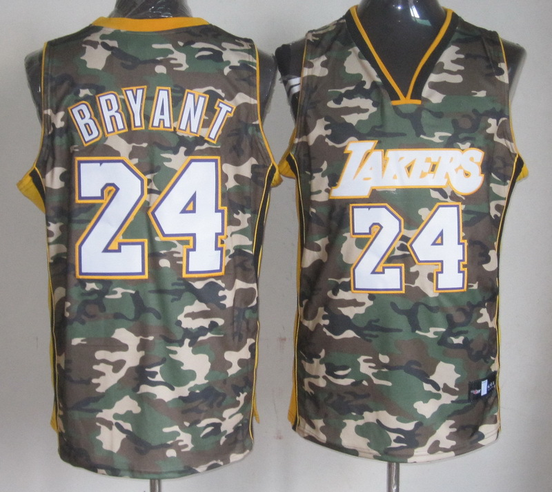 NBA Los Angeles Lakers 24 Kobe Bryant Camouflage Special Edition jersey