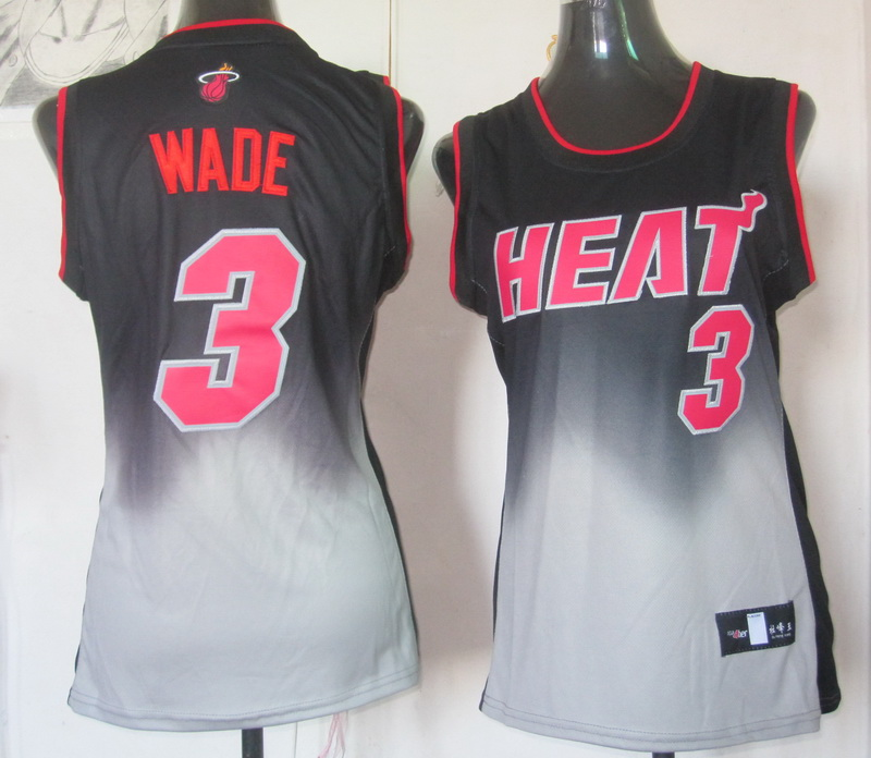 NBA Womens Miami Heat 3 Dwyane Wade 2013 new black grey jersey